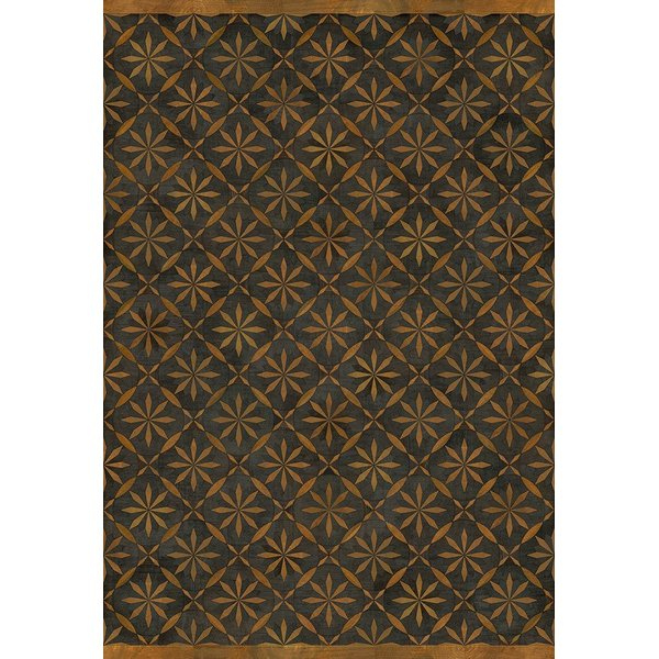 Distressed Black, Brown (No Enemy but Himself) Contemporary / Modern Area Rug
