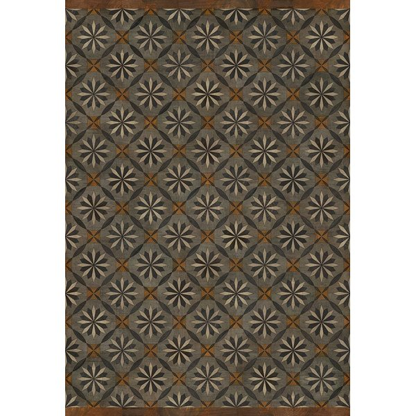 Grey, Brown, Distressed Black (Intellectual Life) Contemporary / Modern Area Rug
