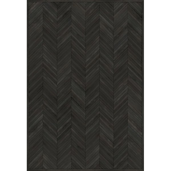 Black (Confessions of an Opium Eater) Contemporary / Modern Area Rug