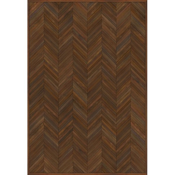 Brown (Hand and Brain) Contemporary / Modern Area Rug