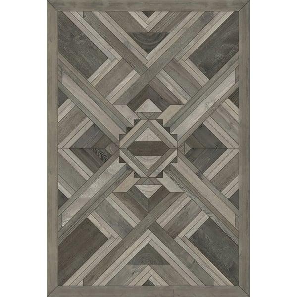 Grey (Tyrant Winds) Contemporary / Modern Area Rug
