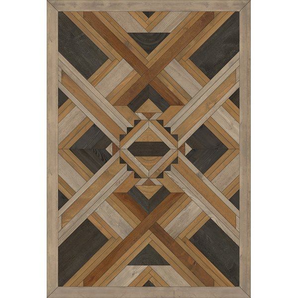 Cream, Brown, Black (Wooded Slopes) Contemporary / Modern Area Rug