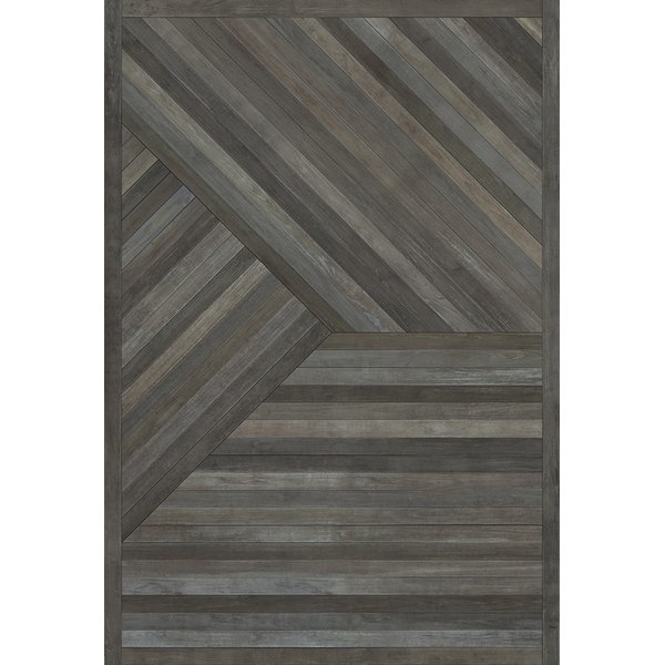 Distressed Grey (Lost in a Forest) Geometric Area Rug