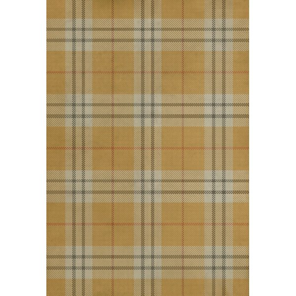Gold, Cream, Distressed Black - New Lanark Country Area-Rugs