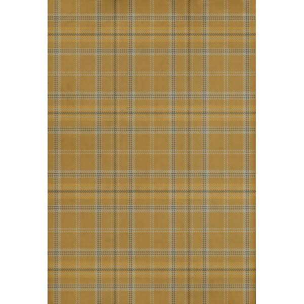 Gold, Cream, Distressed Grey (Ben Nevis) Country Area Rug