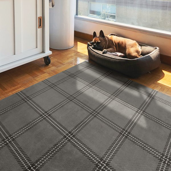 Grey, Distressed Black, Cream - Liverpool Country Area-Rugs