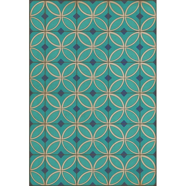 Blue, Cream - Echoes From the Bells Geometric Area-Rugs