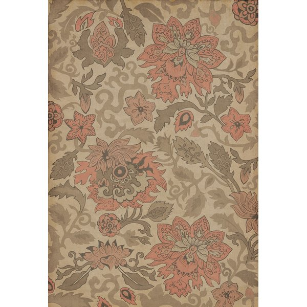 Cream, Pink - Kyoto Floral / Botanical Area-Rugs