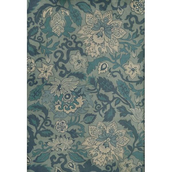 Blue (Sea of Japan) Floral / Botanical Area Rug