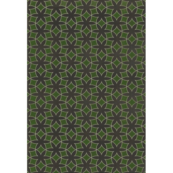Green, Distressed Black (How Green Was My Valley) Geometric Area Rug