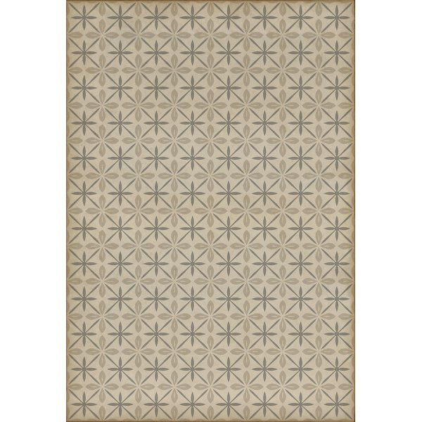 Cream, Distressed Grey (The Carhop) Contemporary / Modern Area Rug