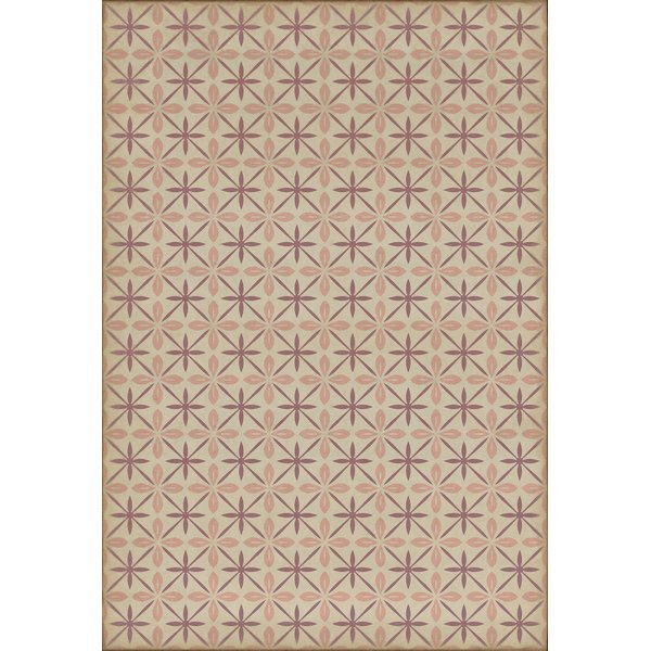 Distressed Cream, Pink, Purple (The Confectioner) Contemporary / Modern Area Rug