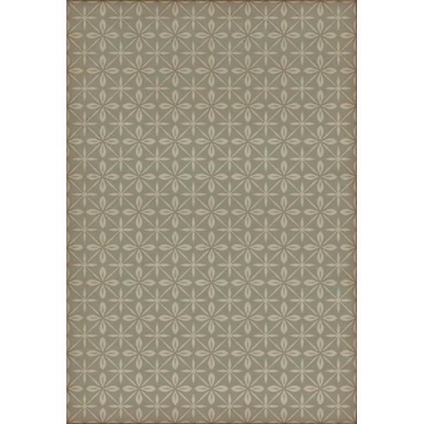 Distressed Grey, Cream (The Lunchbox) Contemporary / Modern Area Rug