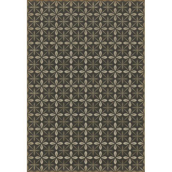 Distressed Black, Cream, Grey (The Transport Cafe) Contemporary / Modern Area Rug