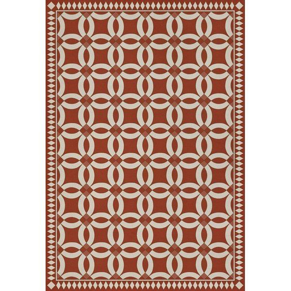 Red, Beige (Hester) Contemporary / Modern Area Rug