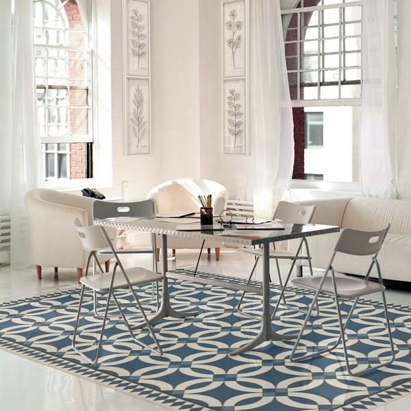 Blue, Beige (Philippa) Contemporary / Modern Area Rug