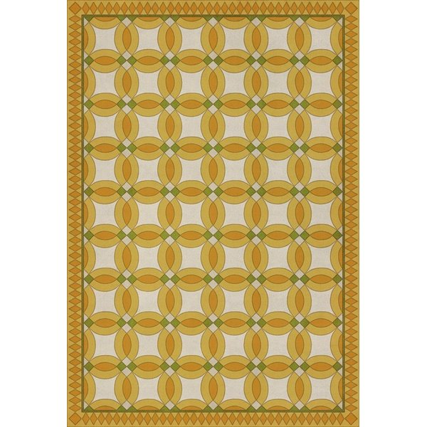 Yellow, Beige, Green (Phoebe) Contemporary / Modern Area Rug