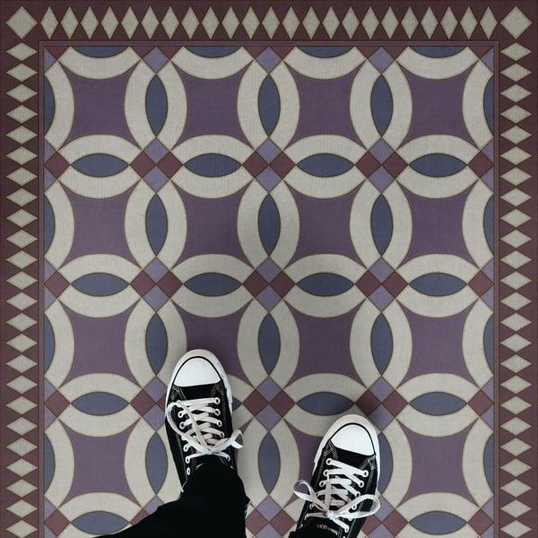 Purple, Blue - Tallulah Contemporary / Modern Area-Rugs