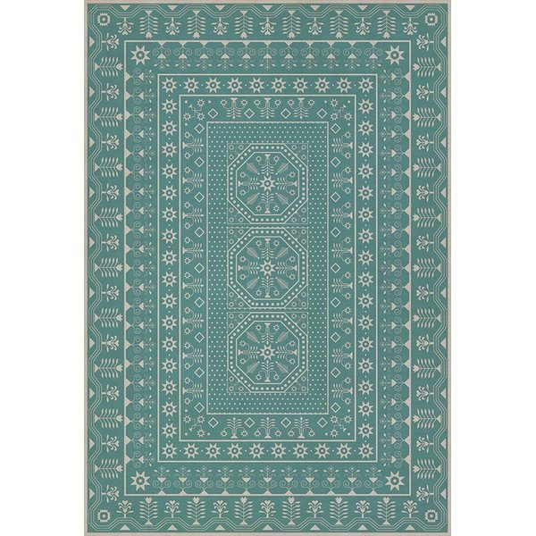 Blue, Beige (A Rain of Melody) Contemporary / Modern Area Rug
