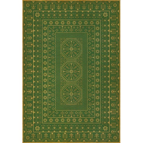 Green, Yellow (Dreams of Thee) Contemporary / Modern Area Rug