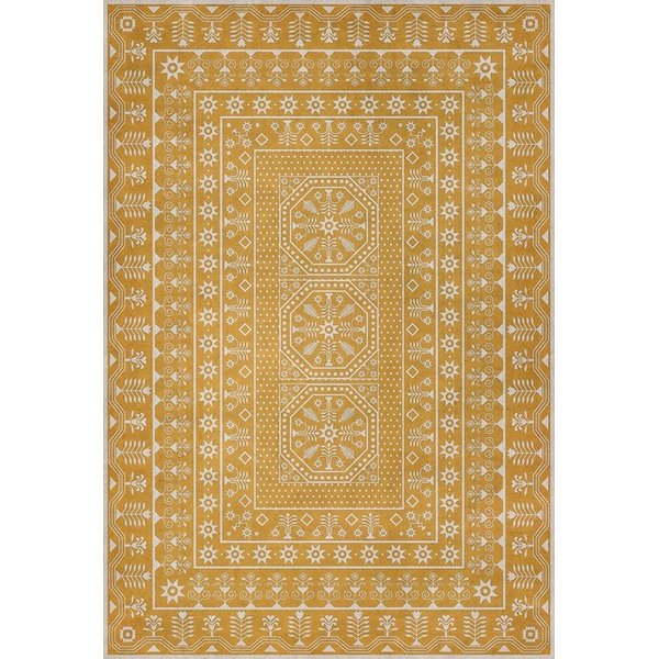 Yellow, Beige (Noonday Dreams) Contemporary / Modern Area Rug