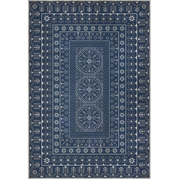 Blue, Beige (The Waning Moon) Contemporary / Modern Area Rug