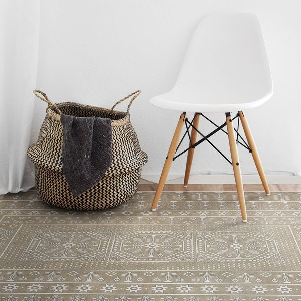 Beige (Time Long Past) Contemporary / Modern Area Rug
