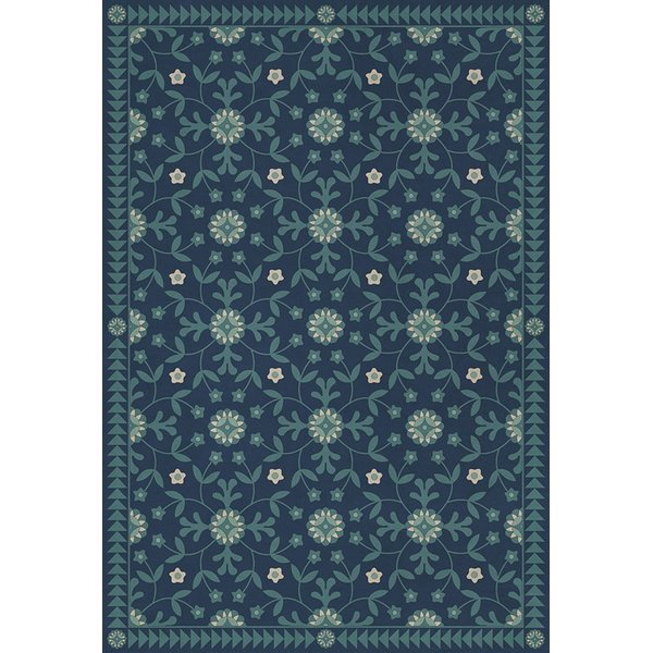 Blue (Going Beyond the Seas) Floral / Botanical Area Rug