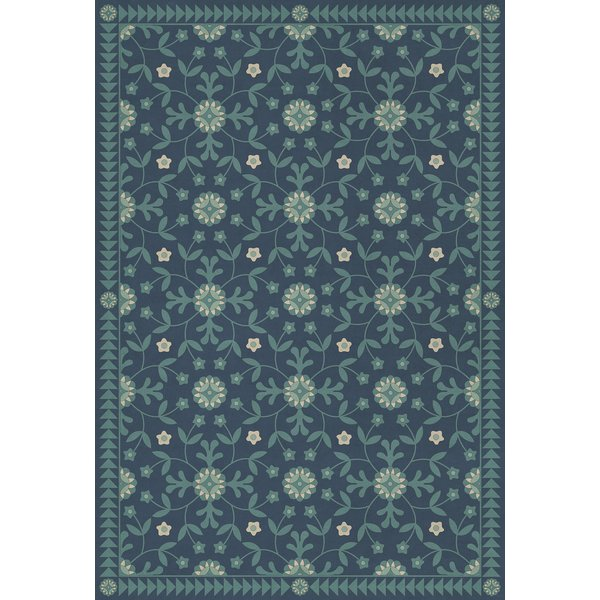 Blue - Going Beyond the Seas Floral / Botanical Area-Rugs