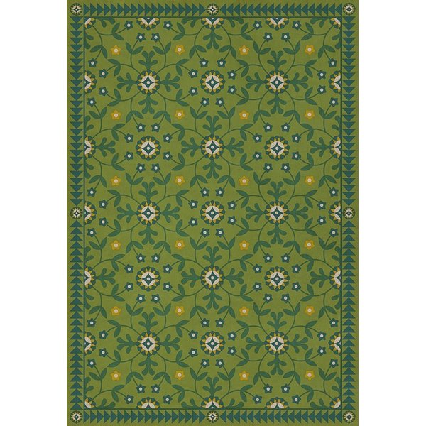 Green, Beige, Yellow (We Have Only Today) Floral / Botanical Area Rug