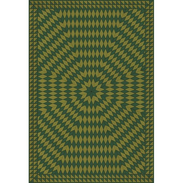 Green (And Sit on a Green Knoll) Contemporary / Modern Area Rug