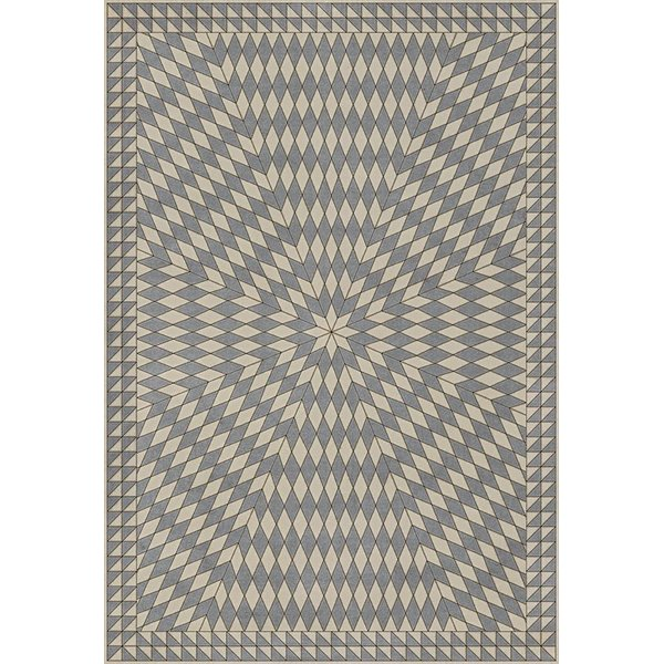 Grey, Beige (Buffeting Gusts of Wind) Contemporary / Modern Area Rug