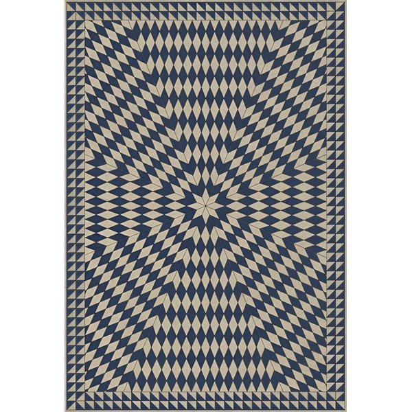 Blue, Beige - Wide Across the Lakes Contemporary / Modern Area-Rugs