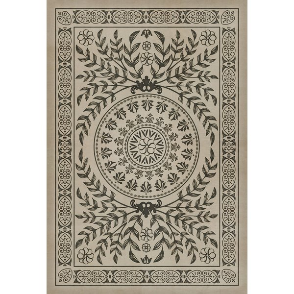 Antiqued Cream, Distressed Black (Drummond Castle) Contemporary / Modern Area Rug