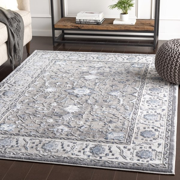 Charcoal, Grey, Navy Traditional / Oriental Area-Rugs