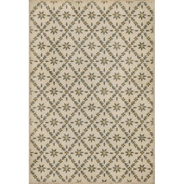 Cream, Distressed Grey, Yellow - Clayton Floral / Botanical Area-Rugs