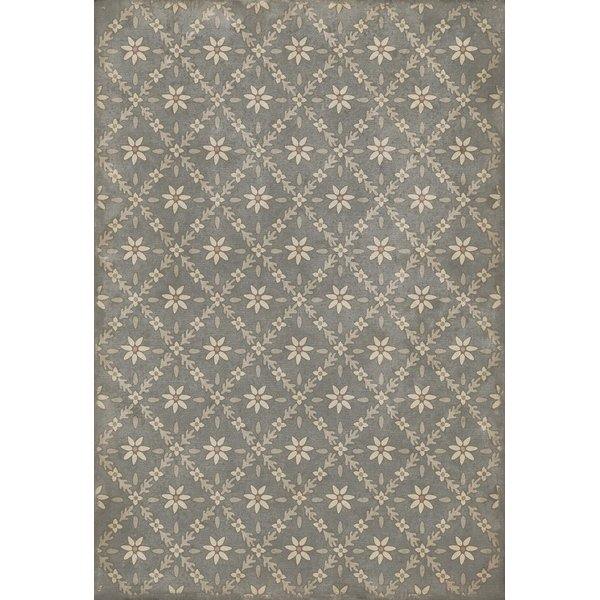Distressed Grey - Mitchell Floral / Botanical Area-Rugs