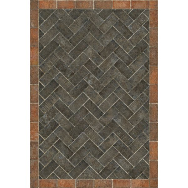 Distressed Black, Red - The Powder Horn Contemporary / Modern Area-Rugs
