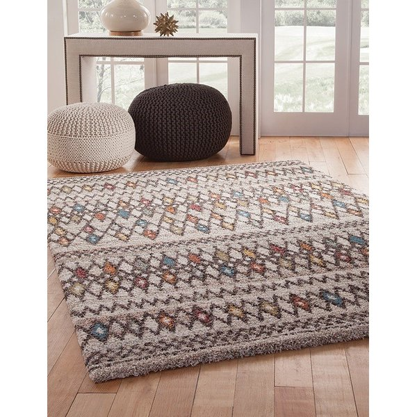 Chocolate, Ivory (2518) Moroccan Area-Rugs