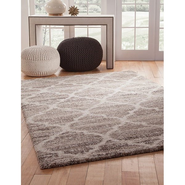 Ivory, Tan, Brown (2533) Contemporary / Modern Area Rug