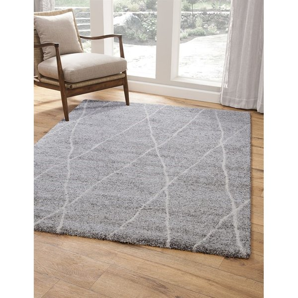 Charcoal, Ivory (2733) Moroccan Area-Rugs