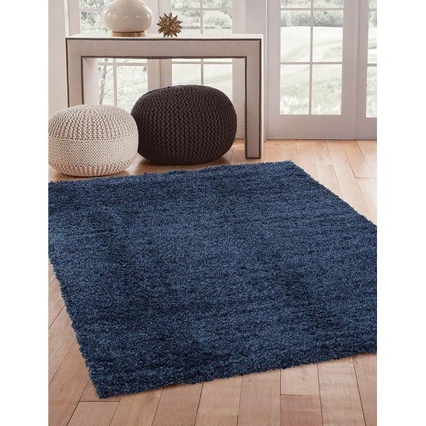 Blue (3010) Shag Area Rug