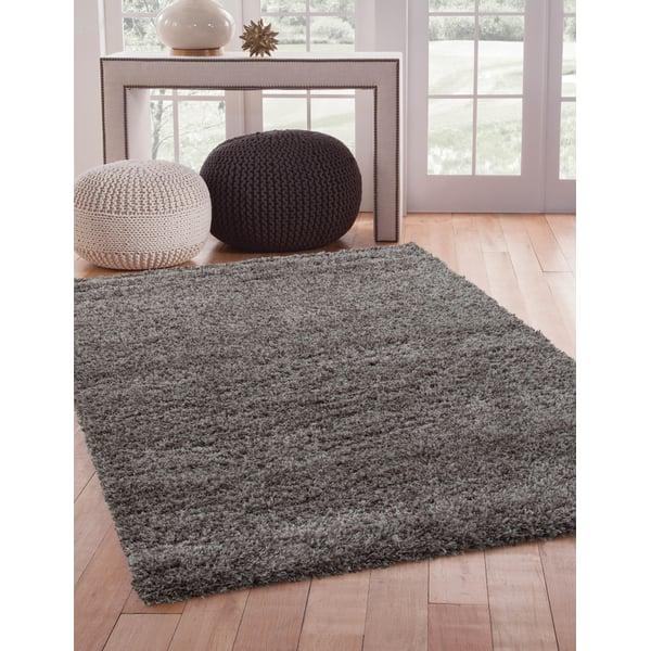 Grey (3008) Shag Area Rug