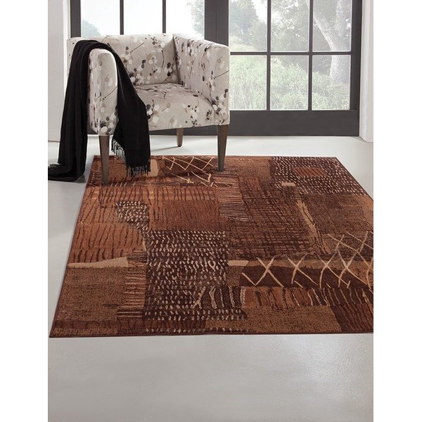 Rust, Brown, Gold (7033) Moroccan Area Rug