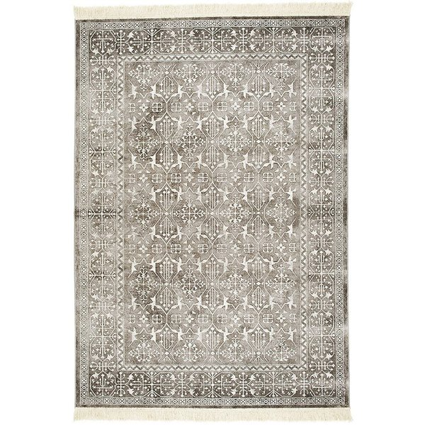 Silver Grey, White (7127) Traditional / Oriental Area-Rugs