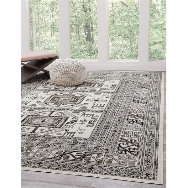 Ivory, Grey (7398) Traditional / Oriental Area-Rugs