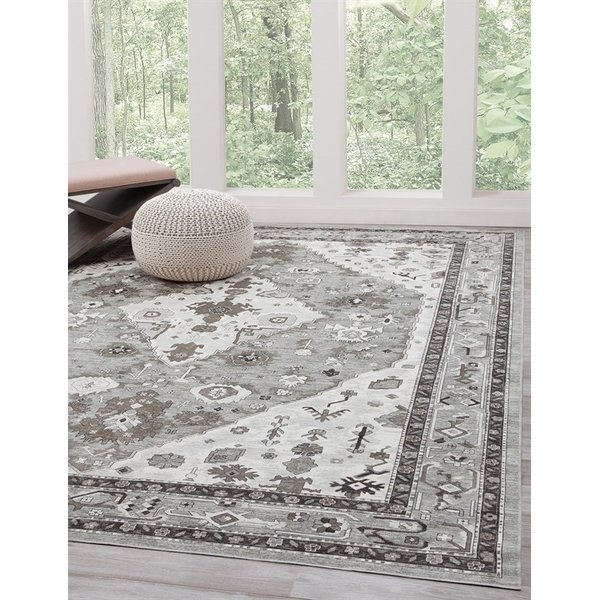 Grey, Natural, Ivory (7399) Traditional / Oriental Area Rug