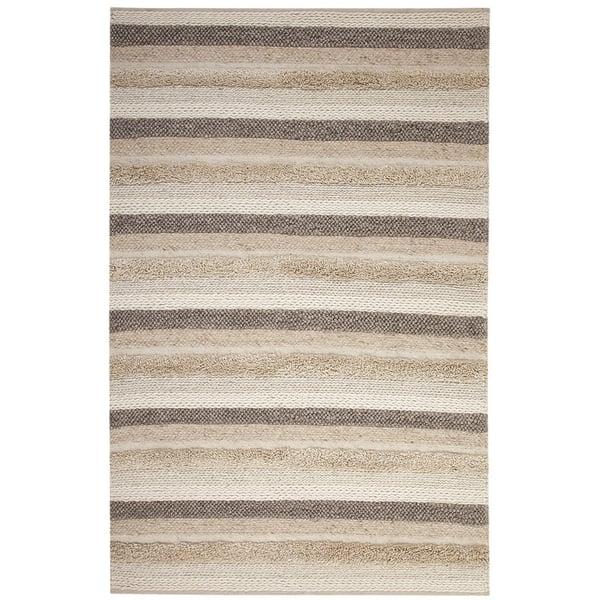 Beige, Brown, Cream (8099) Striped Area Rug