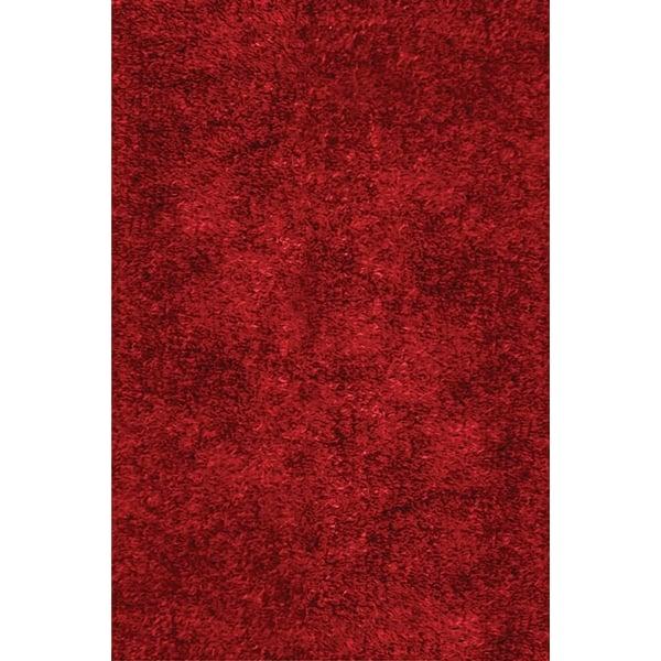 Cranberry (9555) Shag Area Rug