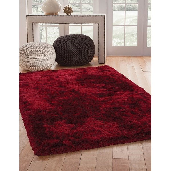Red (8503) Shag Area Rug